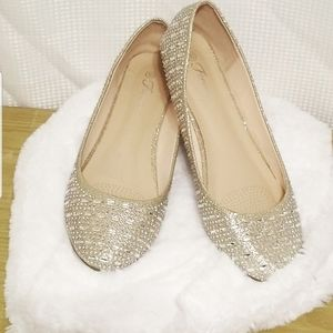 Womens Forever Glitzy Ballet Flats size 10